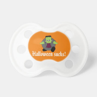 Cute fun cartoon of a green Halloween Frankenstein Dummy