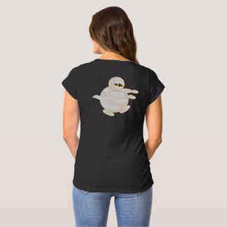 Cute fun cartoon of a Halloween bandaged Mummy, Maternity T-Shirt