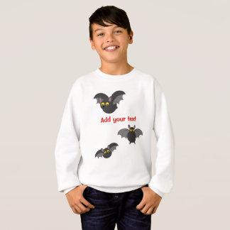 Cute fun cartoon of Halloween black vampire bats, Sweatshirt