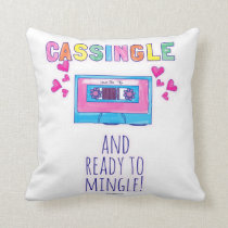 Cute Fun Cassette Flirt Cushion