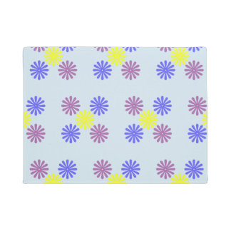 Cute Fun Flower Dots Pattern Mat