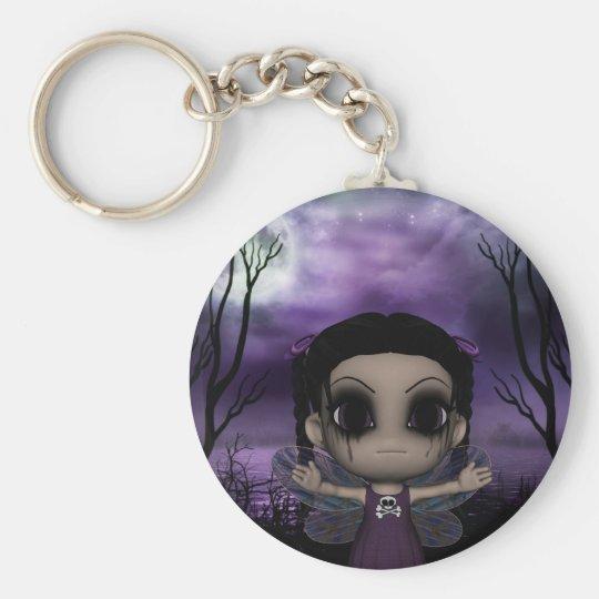Cute Fun Gothic Fairy 1 Key Ring