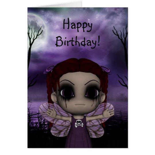 Cute Fun Gothic Fairy Happy Birthday 2 Card