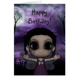 Cute Fun Gothic Fairy Happy Birthday 3 Cards