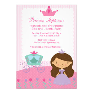 Cute fun princess girl s birthday party invitation
