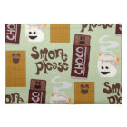 Cute Fun Smore Ingredients Pattern Placemat