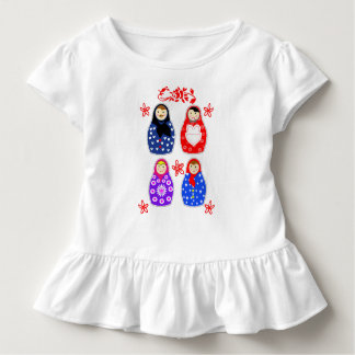 Cute Fun Whimsy Matryoshka Russian Doll Graphic Toddler T-Shirt