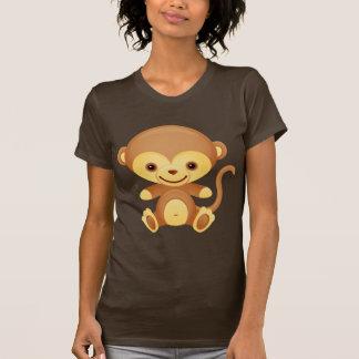 Cute Funky  Monkey Ladies T-Shirt