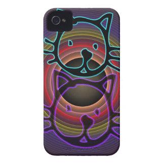 Cute Funky Neon Cats iPhone 4 case-mate case
