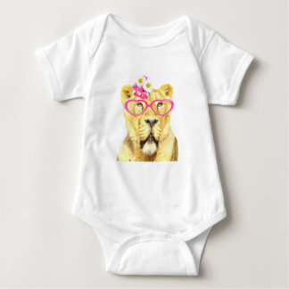 Cute funny animal lioness for baby/kids baby bodysuit