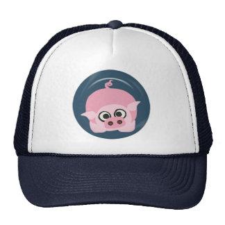 CUTE FUNNY BABY PIG PIGLET PINK BLUE  FARM CARTOON CAP