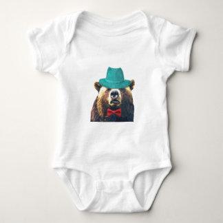 Cute funny bear animal for baby/kids baby bodysuit