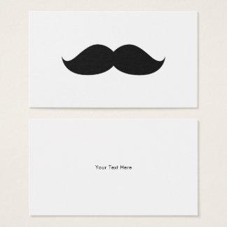 Cute Funny Black Mustache Business Card