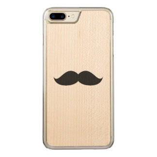 Cute Funny Black Mustache Carved iPhone 8 Plus/7 Plus Case