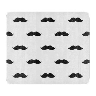 Cute Funny Black Mustache Cutting Board