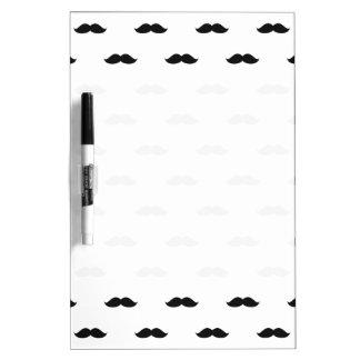 Cute Funny Black Mustache Dry Erase Board