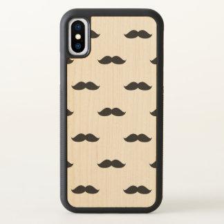 Cute Funny Black Mustache iPhone X Case