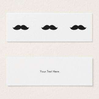 Cute Funny Black Mustache Mini Business Card