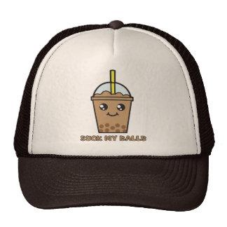 Cute Funny Bubble Tea Humor - Suck My Balls Cap