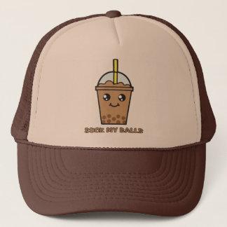 Cute Funny Bubble Tea Humor - Suck My Balls Trucker Hat