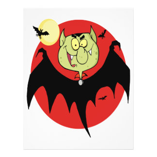 cute funny cartoon vampire bat character flyer design