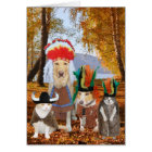 Cute/Funny Cat/Dog Indian Thanksgiving Card