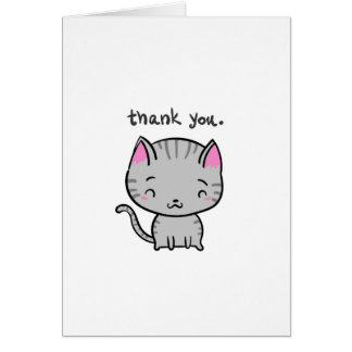 Cute Funny Cat Thank You Card