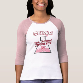 Cute Funny Chemistry Bacon Pink T-Shirt