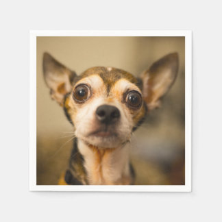 Cute & Funny Chihuahua Dog paper napkins Disposable Serviette