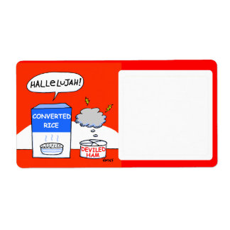 Cute Funny Christian-Theme Food Storage Label Shipping Label