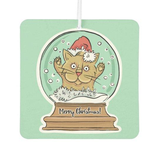 Cute Funny Christmas Cat air freshner Car Air