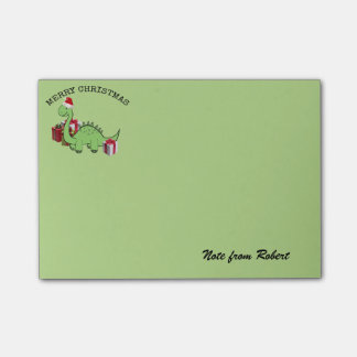 Cute funny  Christmas Santa dinosaur Post-it Notes