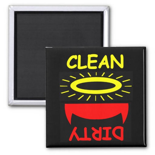 Cute Funny Clean Dirty Dishwasher Magnet