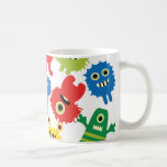 Cute Funny Colourful Monsters Pattern