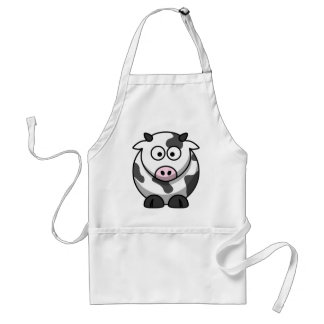Cute Funny Cow Standard Apron