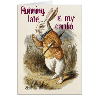 Cute Funny CUSTOMIZABLE Blank White Rabbit Greeting Card