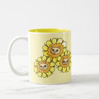 Cute Funny Dandy Lion Drawing Mug