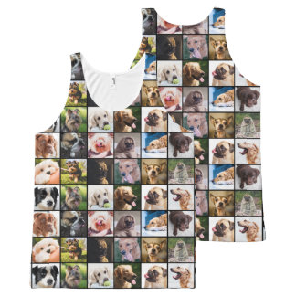 Cute & Funny Dogs Photo Collage tank top