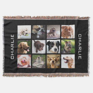 Cute & Funny Dogs Photo Collage throw blanket