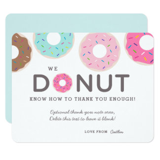 Cute Funny Donut Thank You Cards