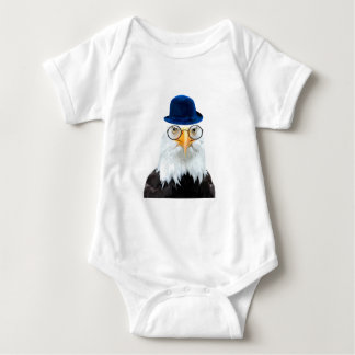 Cute funny eagle animal for baby/kids baby bodysuit