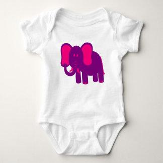 Cute Funny Elephant Baby Bodysuit