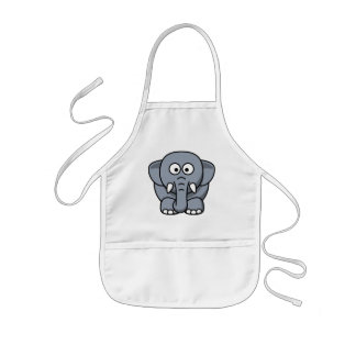 Cute Funny Elephant Kids Apron