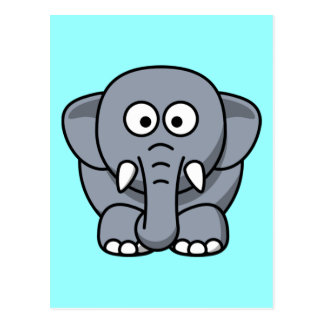 Cute Funny Elephant Postcard