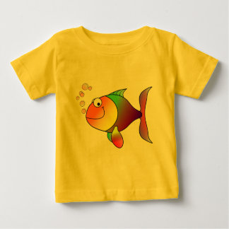 Cute Funny Fish - Colorful Baby T-Shirt