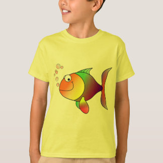Cute Funny Fish - Colorful T-Shirt