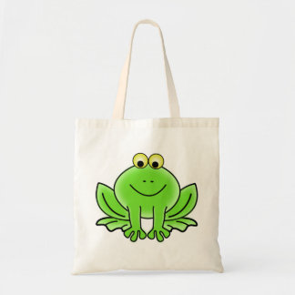 Cute Funny Frog Budget Tote Bag
