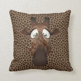 Cute Funny Giraffe Face Animal Fur Pattern Cushions
