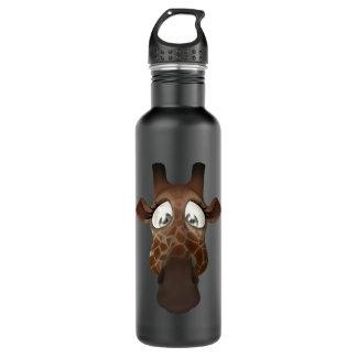 Cute Funny Giraffe Face 710 Ml Water Bottle