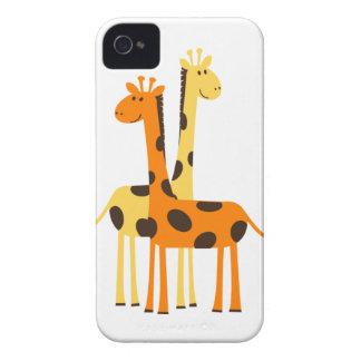 Cute Funny Giraffe Pair iPhone 4 Case-Mate Cases